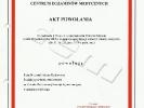 Akt powołania na Członka Państwowej Komisji Egzaminacyjnej w dziedzinie Nefrologia